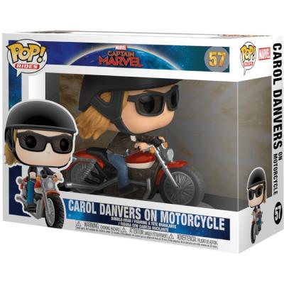 Фигурка Funko Головотряс Captain Marvel - POP! Rides - Carol Danvers on Motorcycle 36418 (9.5 см)