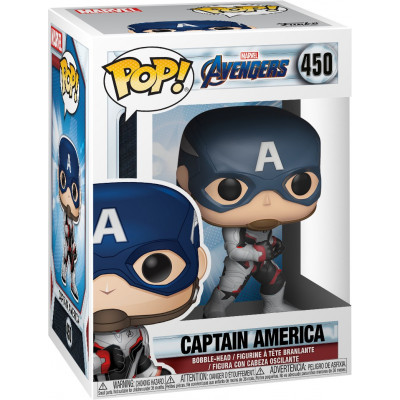 Фигурка Funko Головотряс Avengers: Endgame - POP! - Captain America 36661 (9.5 см)
