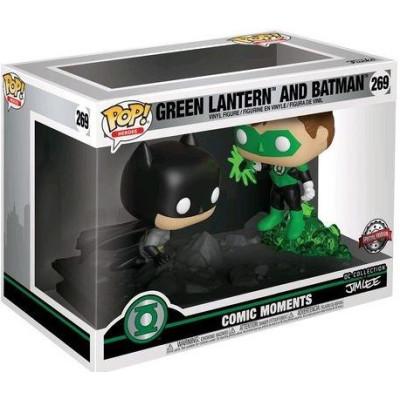 Набор фигурок Funko Green Lantern - POP! Heroes Comic Moment - Green Lantern & Batman (DC Collection of Jim Lee) (Exc) 36292 (9.5 см)