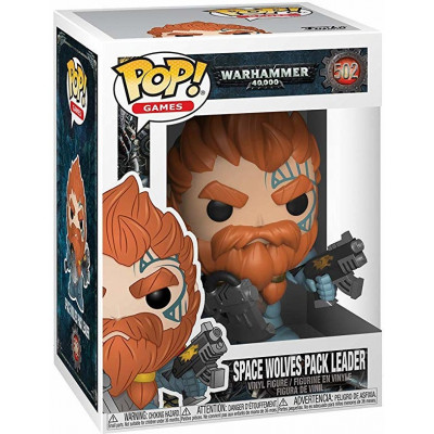 Фигурка Funko Warhammer 40,000 - POP! Games - Space Wolves Pack Leader 38327 (9.5 см)