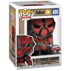 Фигурка Fallout 76 - POP! Games - X-01 Power Armor (Red) (Exc) (9.5 см)