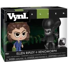 Набор фигурок Alien: 40 Anniversary - Vynl - Ellen Ripley + Xenomorph (9.5 см)