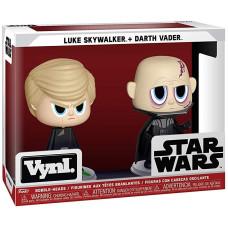 Набор фигурок Star Wars - Vynl - Luke Skywalker + Darth Vader (9.5 см)