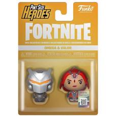 Набор фигурок Fortnite - Pint Size Heroes - Omega & Valor (4 см)
