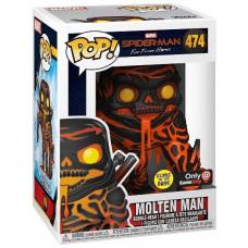 Головотряс Spider-Man: Far From Home - POP! - Molten Man (Glows in the Dark) (Exc) (9.5 см)