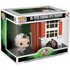 Набор фигурок Ghostbusters 35 Years - POP! Town - Dr Peter Venkman with Firehouse (15 см)