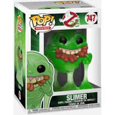 Фигурка Ghostbusters 35 Years - POP! Movies - Slimer (with Hot Dogs) (Translucent) (Exc) (9.5 см)