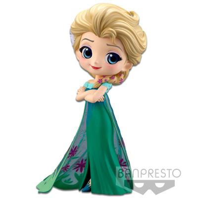 Фигурка Banpresto Frozen - Q posket Disney Characters - Elsa Frozen Fever Design (ver.A) 85498P (14 см)