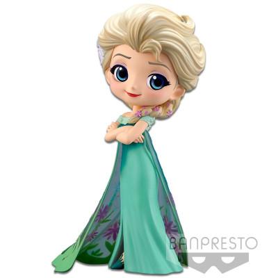 Фигурка Banpresto Frozen - Q posket Disney Characters - Elsa Frozen Fever Design (ver.B) 85499P (14 см)
