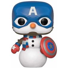 Головотряс Marvel: Holiday - POP! - Captain America Snowman (9.5 см)