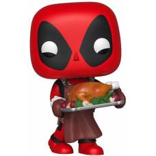 Головотряс Marvel: Holiday - POP! - Deadpool with Turkey (9.5 см)