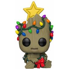 Головотряс Marvel: Holiday - POP! - Groot with Wreath (9.5 см)