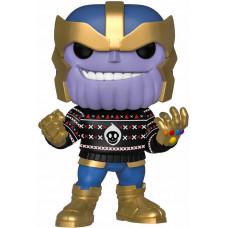 Головотряс Marvel: Holiday - POP! - Thanos in Ugly Sweater (9.5 см)