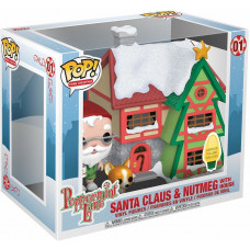 Фигурка Peppermint Lane - POP! Town Christmas - Santa Clause and Nutmeg with House (15 см)
