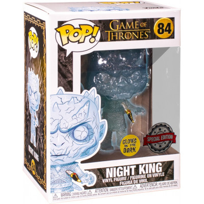 Фигурка Funko Game of Thrones - POP! TV - Crystal Night King with Dagger in Chest (Glows in the Dark) (Exc) 45233 (9.5 см)