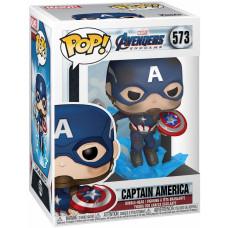 Головотряс Avengers: Endgame - POP! - Captain America (with Broken Shield & Mjolnir) (9.5 см)