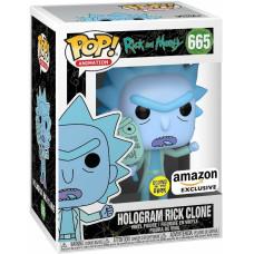 Фигурка Rick & Morty - POP! Animation - Hologram Rick Clone (Glows in the Dark) (Exc) (9.5 см)