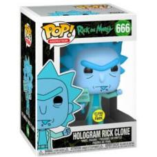 Фигурка Rick & Morty - POP! Animation - Hologram Rick Clone (Glows in the Dark) (Exc2) (9.5 см)