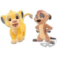 Фигурка The Lion King - Fluffy Puffy Disney Characters - Simba & Timon (7 см)
