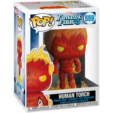 Головотряс Fantastic Four - POP! - Human Torch (9.5 см)