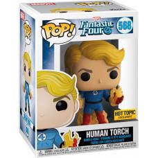 Головотряс Fantastic Four - POP! - Human Torch (Exc) (9.5 см)