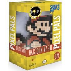 Фигурка Super Mario Bros 3 - Pixel Pals - Raccoon Mario (Lights) (15 см)