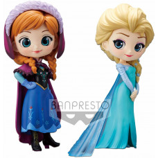 Набор фигурок Frozen - Q posket Disney Characters - Anna & Elsa (14 см)