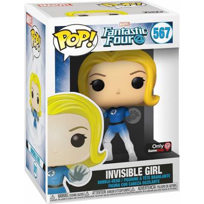 Фигурка Funko Головотряс Fantastic Four - POP! - Invisible Girl (Translucent) (Exc) 45005 (9.5 см)