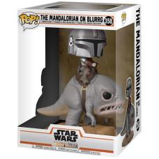 Головотряс Star Wars: The Mandalorian - POP! Deluxe - The Mandalorian on Blurrg (13 см)