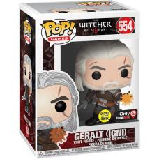 Фигурка The Witcher 3: Wild Hunt - POP! Games - Geralt (IGNI) (Glows in the Dark) (Exc) (9.5 см)
