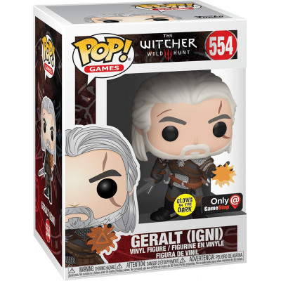 Фигурка Funko The Witcher 3: Wild Hunt - POP! Games - Geralt (IGNI) (Glows in the Dark) (Exc) 45039 (9.5 см)
