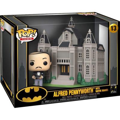 Набор фигурок Funko Batman (80 Years) - POP! Town - Alfred Pennyworth with Wayne Manor 45524 (9.5 см)