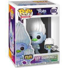 Фигурка Trolls World Tour - POP! Movies - Guy Diamond with Tiny (Diamond Glitter) (9.5 см)