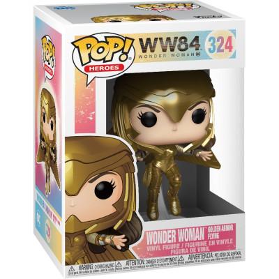 Фигурка Funko Wonder Woman 1984 - POP! Heroes - Wonder Woman Golden Armor Flying (Metallic) (Exc) 46660 (9.5 см)