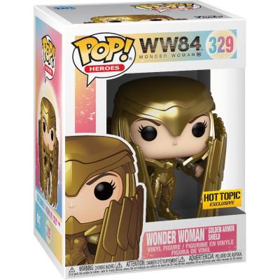 Фигурка Funko Wonder Woman 1984 - POP! Heroes - Wonder Woman Golden Armor Shield (Metallic) (Exc) 46659 (9.5 см)