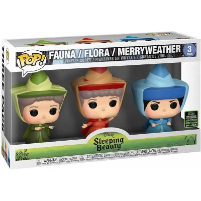 Набор фигурок Funko Sleeping Beauty - POP! - Fauna / Flora / Merryweather (Exc) 45934 (9.5 см)