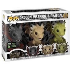 Набор фигурок Game of Thrones - POP! - Drogon, Viserion, & Rhaegal (Exc) (9.5 см)