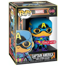 Головотряс Marvel - POP! - Captain America (Black Light) (Exc) (9.5 см)