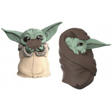 Набор фигурок Star Wars: The Mandalorian - The Bounty Collection - The Child (Sipping Soup & Blanket Wrapped) (5.5 см)