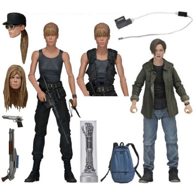 Набор фигурок NECA Terminator 2: Judgment Day - Action Figure - Sarah Connor and John Connor (18 см)