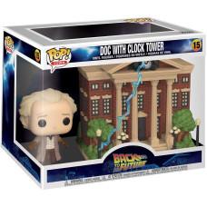 Набор фигурок Back to the Future - POP! Town - Doc with Clock Tower (15 см)