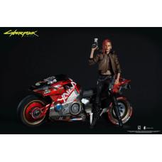 Набор фигурок Cyberpunk 2077 - Action Figure - V (Female) & Sportbike Yaiba Kusanagi CT3-H (30 & 18 см)