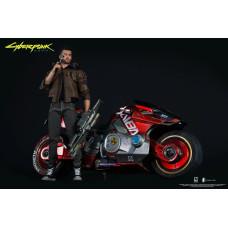 Набор фигурок Cyberpunk 2077 - Action Figure - V (Male) & Sportbike Yaiba Kusanagi CT3-H (30 & 18 см)