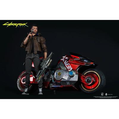 Набор фигурок Pure Arts Cyberpunk 2077 - Action Figure - V (Male) & Sportbike Yaiba Kusanagi CT3-H (30 & 18 см)