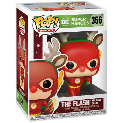 Фигурка Funko DC: Super Heroes - POP! Heroes - Flash Holiday Dash 50654 (9.5 см)