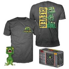 Набор Jurassic Park - POP! Tees - Clever Raptor (фигурка/ футболка)
