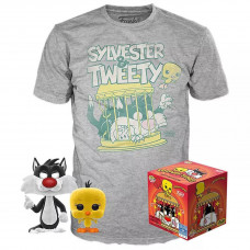 Набор Looney Tunes - POP! Tees - Sylvester & Tweety (фигурка/ футболка)
