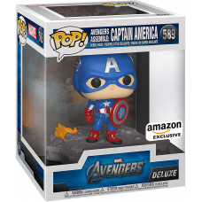 Головотряс Avengers - POP! Deluxe - Avengers Assemble: Captain America (Exc) (14 см)