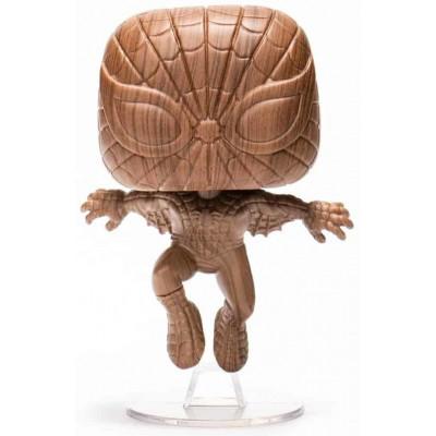 Фигурка Funko Головотряс Marvel Comics - POP! - Spider-Man (Wood Deco) (Exc) 52216 (9.5 см)