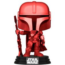 Головотряс Star Wars: The Mandalorian - POP! - The Mandalorian (Red) (Chrome) (Exc) (9.5 см)